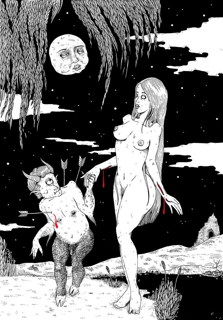 Danse sous la lune